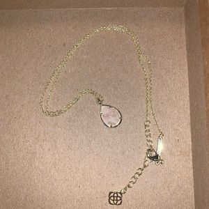 Kendra Scott necklace - Gold and pink